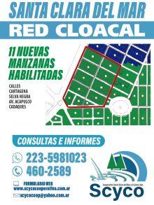 RED CLOACAL: 11 NUEVAS MANZANAS HABILITADAS PARA CONEXIÓN